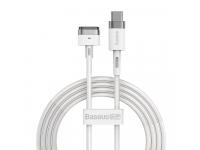 Cablu Incarcare USB Type-C - T MagSafe Baseus Zinc Angular pentru Apple MacBook Air 13 / Macbook Air 11 / Macbook Pro 14 / Macbook Air 17, Magnetic, 60W, 2m, Alb CATXC-V02