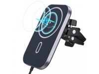 Incarcator Auto Wireless Choetech T200-F, MagSafe, Quick Charge, 15W, Negru