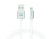 Cablu Date USB la Lightning Swissten, 1.2 m, Argintiu