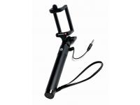 Selfie Stick Swissten, cu Cablu Jack 3.5mm, Negru