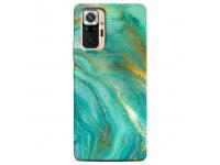 Husa TPU CaseGadget Sapphire Marble pentru Xiaomi Redmi Note 10 Pro, Verde