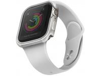 Husa Protectie Ceas UNIQ Valencia Apple Watch Series 4 Aluminum / Apple Watch Edition Series 5 / Apple Watch Series 6, 44mm, Argintie