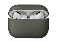 Husa Protectie Casti UNIQ Lino Hybrid pentru Apple AirPods Pro, Gri