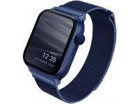 Curea Ceas UNIQ Dante pentru Apple Watch Series 3 42 mm / Apple Watch Series 4 Aluminum / Apple Watch Edition Series 5, Albastra