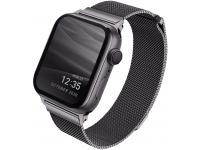 Curea Ceas UNIQ Dante pentru Apple Watch Series 3 42 mm / Apple Watch Series 4 Aluminum / Apple Watch Edition Series 5, Gri
