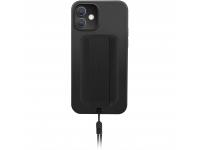 Husa TPU UNIQ Heldro DE pentru Apple iPhone 12 mini, Antibacterian, Neagra