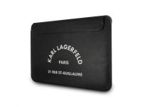 Husa Laptop Karl Lagerfeld RSG Logo Sleeve, pentru MacBook Air/Pro, Neagra KLCS133RSGSFBK
