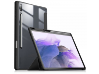 Husa Tableta Poliuretan INFILAND Crystal pentru Samsung Galaxy Tab S7 FE, Neagra