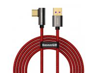 Cablu Date si Incarcare USB Type-C la USB Type-C Baseus Legend, 2 m, 66W, Rosu CACS000509