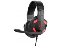 Casti Gaming HAVIT GAMENOTE H2032d, Cu microfon, USB, 3.5 mm, RGB, Negre