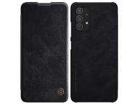 Husa Piele Nillkin Qin Book pentru Samsung Galaxy A32, Neagra