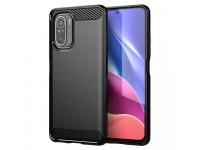 Husa TPU OEM Carbon pentru Xiaomi Poco F3, Neagra