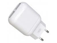 Incarcator Retea USB XO Design L78, 2 X USB, 2.4A, Alb