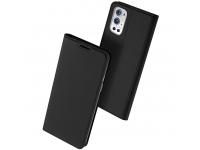 Husa Piele DUX DUCIS Skin Pro pentru OnePlus 9 Pro, Neagra