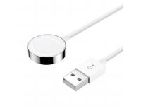 Dock Incarcare Joyroom S-IW002S Ben Series pentru Apple Watch, Magnetic / Iesire Lightning, Varianta USB, 1.5 m, Alb