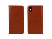 Husa Piele OEM Special Book pentru Xiaomi Redmi Note 10 5G, Maro