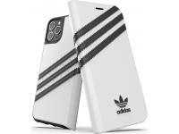 Husa Piele Adidas Booklet pentru Apple iPhone 11 Pro Max, Alba