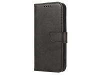 Husa Piele OEM Leather Flip Magnet pentru Motorola Moto G9 Plus, Neagra