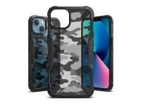 Husa Plastic - TPU Ringke Fusion X Design Camo pentru Apple iPhone 13, Neagra