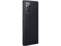 Husa Telefon Samsung Galaxy Note 20 N980, Leather Cover, EF-VN980LBE, Neagra, Resigilat
