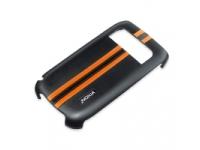 Husa plastic Nokia CC-3012 neagra portocalie Blister Originala