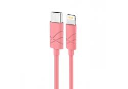 Cablu de date Apple iPhone 7 Usams U-Gee roz Blister Original
