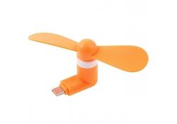 Mini Ventilator USB Type-C Fashion portocaliu