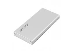 Carcasa externa SSD m-SATA Orico MSA-U3 argintie Blister Originala