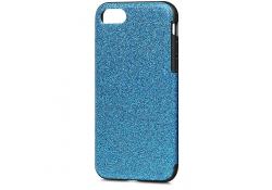 Husa silicon TPU Apple iPhone 7 Soft Glitter Albastra