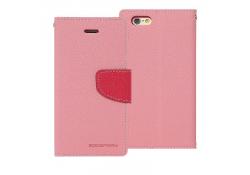 Husa piele Apple iPhone 6 Goospery Mercury Fancy Roz Blister Originala