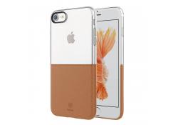 Husa silicon TPU Apple iPhone 7 Baseus Half to Half Maro Blister Originala