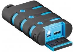 Baterie externa Powerbank Goobay Waterproof 10050mA Neagra Albastra Blister Originala