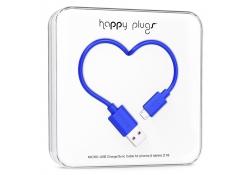 Cablu de date MicroUSB Happy Plugs 2m Albastru Blister Original