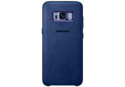 Husa piele Samsung Galaxy S8+ G955 Alcantara EF-XG955AL Albastra Blister Originala
