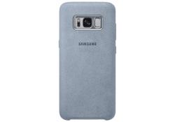 Husa piele Samsung Galaxy S8+ G955 Alcantara EF-XG955AM Turquoise Blister Originala