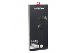 Handsfree Wopow Metal AU08 Blister Original