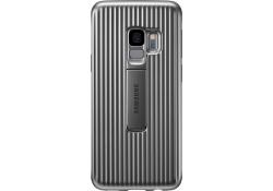 Husa Plastic Samsung Galaxy S9 G960 Standing EF-RG960CSEGWW Argintie Blister Originala