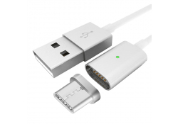 Cablu date USB - USB Type C Magnetic Star Alb Blister