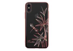 Husa silicon TPU Apple iPhone 7 Kingxbar Elegant Bamboo Roz Blister Originala