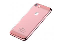 Husa silicon TPU Apple iPhone 7 Devia Glimmer2 Roz Transparenta Blister Originala