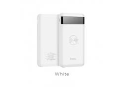Baterie externa Powerbank cu incarcare wireless Hoco Astute J11 10000mAh Alba Blister