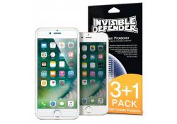 Folie Protectie Ecran Ringke pentru Apple iPhone 7 / Apple iPhone 8, Plastic, Set 4 buc, Blister