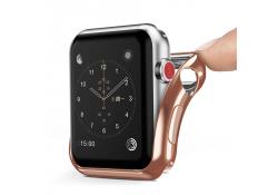 Husa TPU DUX DUCIS pentru Apple Watch Edition series 2 38mm, Roz Aurie, Blister