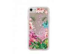 Husa TPU OEM Liquid Mirror Flower pentru Huawei P20, Multicolor, Bulk
