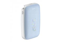 Baterie Externa Powerbank Baseus Mini Q Hand Warmer 10000 mA, 1 x USB, Bleu, Blister PPALL-CXQ03