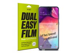 Folie Protectie Ecran Ringke pentru Samsung Galaxy A20 A205 / Samsung Galaxy A30 A305 / Samsung Galaxy A50 A505, Plastic, Full Face, Dual Easy, Blister ESSG0012