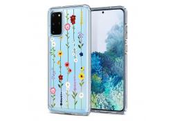 Husa TPU Spigen CIEL pentru Samsung Galaxy S20 Plus G985 / Samsung Galaxy S20 Plus 5G G986, FLOWER GARDEN, Transparenta, Blister ACS00763