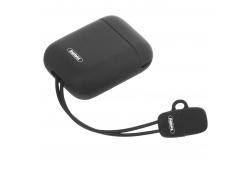Husa TPU Remax  + cablu Lightning pentru Apple Airpods, Neagra, Blister