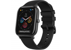 Ceas Smartwatch Amazfit Huami GTS, Carcasa metalica, GPS, Negru, Blister