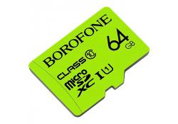 Card Memorie MicroSDXC Borofone, 64Gb, Clasa 10 / UHS-1 U1, Blister